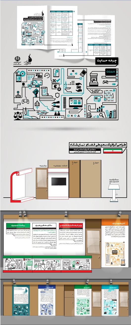 bonyad5 - طراحی هویت بصری بنیاد ملی بازی های رایانه ای ایران
