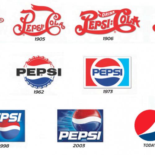 Pepsi 500x500 - چرا و چگونه لوگو سازمان باز طراحی شود؟